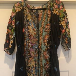 Perfect condition Johnny Was silk dress!